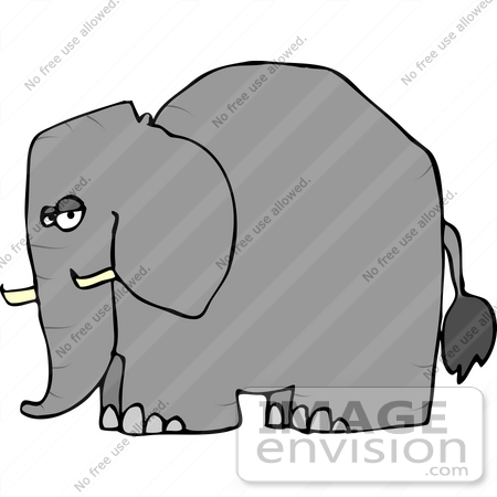 Side View of an Elephant Clipart | #12453 by DJArt ...