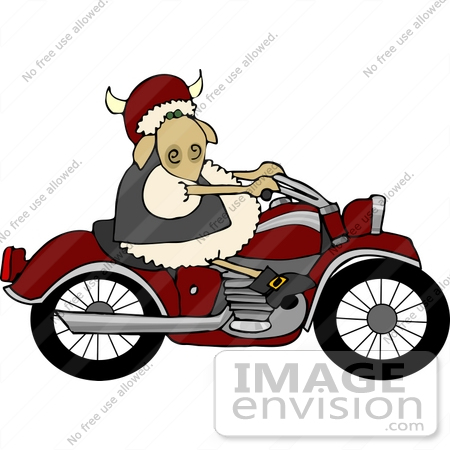 #12483 Biker Sheep Clipart by DJArt