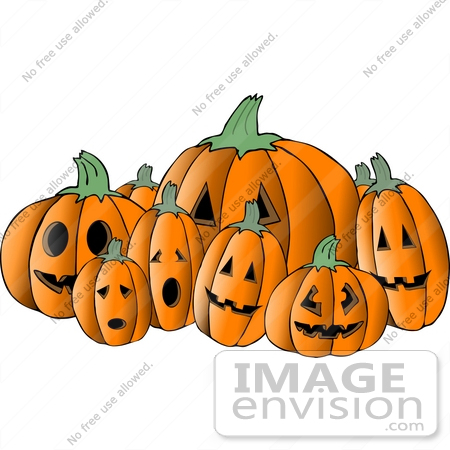 Halloween Jack O Lanterns Clipart | #12497 by DJArt | Royalty-Free ...