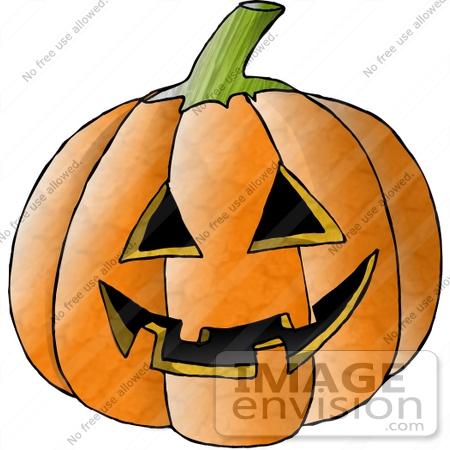 Carved Halloween Pumpkin Clipart | #12498 by DJArt | Royalty-Free ...