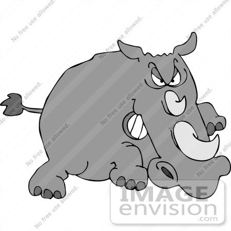 Mean rhino clipart 12503 angry rhino charging