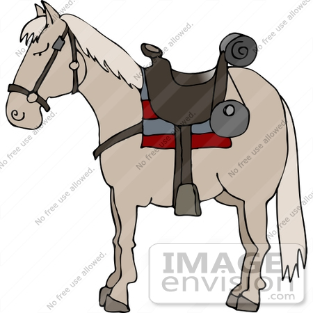 horse with a saddle clipart 12528 by djart royalty free stock rh imageenvision com Horse Saddle Drawing Horse Saddle Illustration