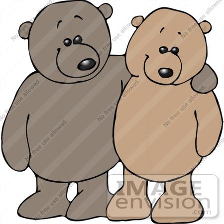 Friendly Teddy Bears Clipart | #12533 by DJArt | Royalty-Free Stock ...