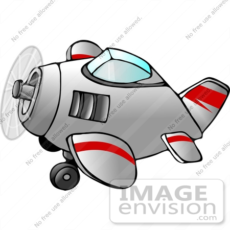 #12622 Airplane Clipart by DJArt