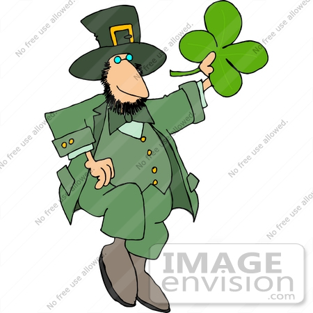 #12634 Dancing St Paddy's Day Leprechaun Clipart by DJArt