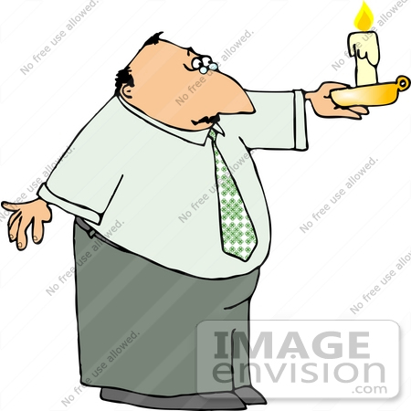 #12706 Man Holding a Candle Clipart by DJArt