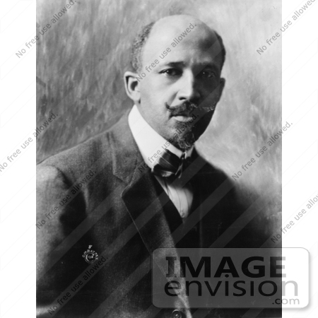 #1271 Black and White Photo of W.E.B. Du Bois, William Edward Burghardt Du Bois by JVPD