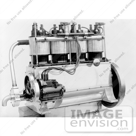 Picture Of The Wright Brothers 4 Cylinder Engine 12745