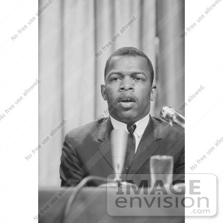 #1276 Photo of John Lewis at a Meeting of American Society of Newspaper Editors by JVPD