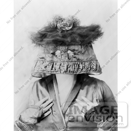 #12849 Picture of Marie Dressler Wearing a Lamp Shade on Her Head by JVPD