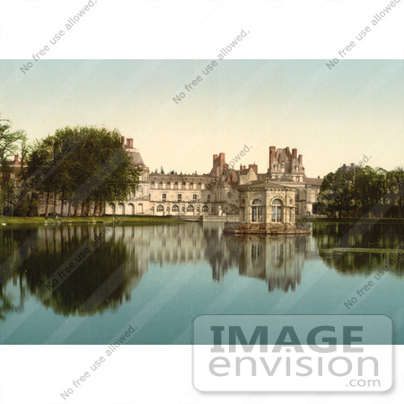 #12889 Picture of Fontainebleau Palace in France by JVPD