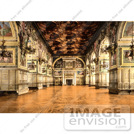 #12890 Picture of the Gallery of Henry II at Fontainebleau Palace by JVPD