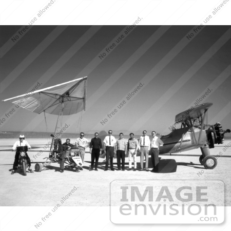 #1301 Stock Photo of a Tow Plane, Crew and Pilot by a Paresev 1-A by JVPD