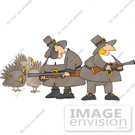 Cartoon Of Turkey Hunting Hunters