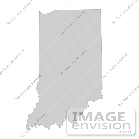 #13162 Picture of a Map of Indiana of the United States of America by JVPD