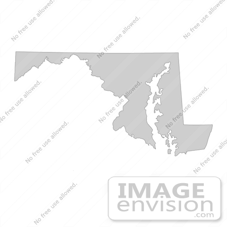 #13178 Picture of a Map of Maryland of the United States of America by JVPD