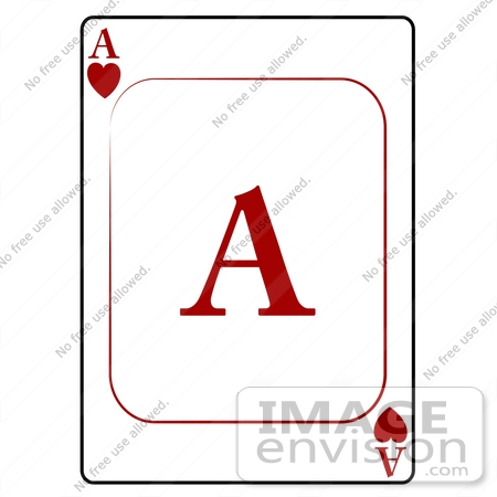 Ace of Hearts Playing Card Clipart | #13252 by DJArt | Royalty ...
