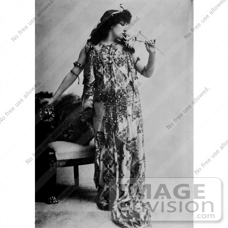 #13267 Picture of Sarah Bernhardt as Cleopatra in 1890 by JVPD
