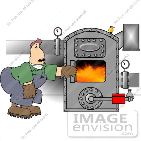 Man Checking A Boiler Clipart | #13340 by DJArt | Royalty-Free Stock ...