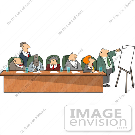 #13353 Multi Ethnic Group of Business Associates in a Meeting Clipart by DJArt
