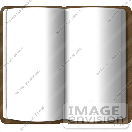 clip art book open. #13368 Open Book With Blank