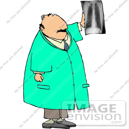 caucasian male doctor with an xray clipart 13373 by djart rh imageenvision com chest x ray clipart x ray clipart black and white