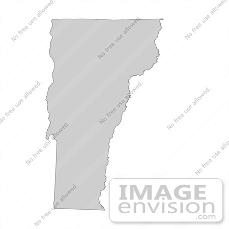 #13396 Picture of a Map of Vermont of the United States of America by JVPD