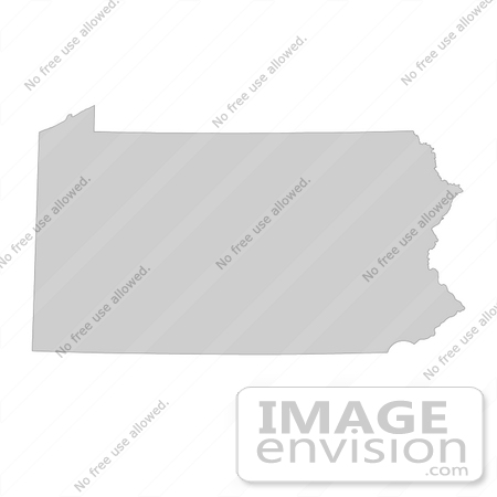 Picture of a Map of Pennsylvania of the United States of America