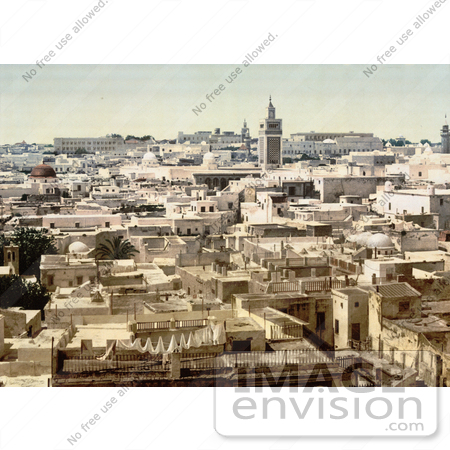 #13446 Picture of Tunis, Tunisia in 1899 by JVPD