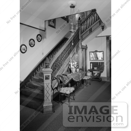 #14245 Picture of the Staircase in the Jeremiah Nunan House, Jacksonville, Oregon by JVPD