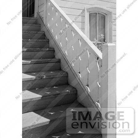 #14251 Picture of the Stairs at the Presbyterian Church, Jacksonville, Oregon by JVPD