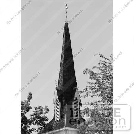 #14264 Picture of the Presbyterian Church Steeple, Jacksonville, Oregon by JVPD