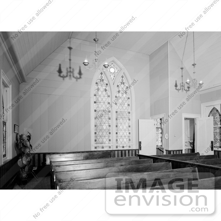 #14272 Picture of the Interior of the Presbyterian Church, Jacksonville, Oregon by JVPD
