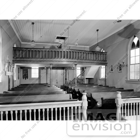 #14293 Picture of the Choir Loft and Pews in St. Joseph's Roman Catholic Church, Jacksonville, Oregon by JVPD