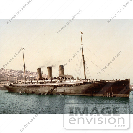 #14348 Picture of Steamship Normannia, Algiers by JVPD