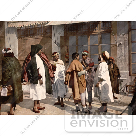 #14352 Picture of Arab People Disputing on a Street, Algeria by JVPD
