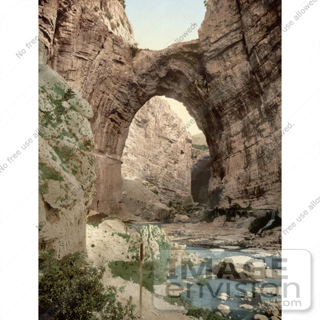 #14353 Picture of a Natural Arch Over the Stream, Constantine, Algeria by JVPD