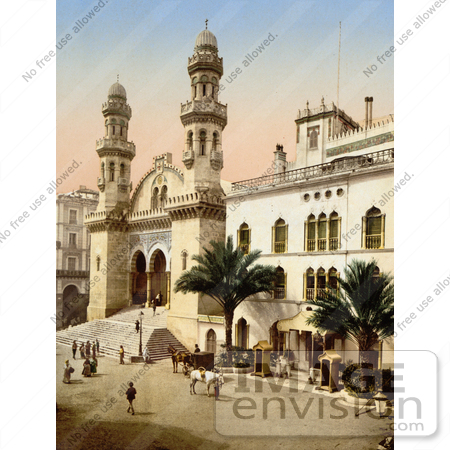 #14359 Picture of Steret Scene in Front of the Cathedral, Algiers, Algeria by JVPD