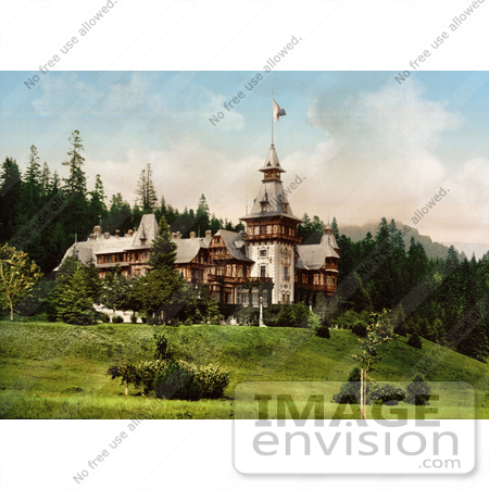 #14377 Picture of Pelesch Castle, or Peles Castle, Sinaia, Roumania by JVPD