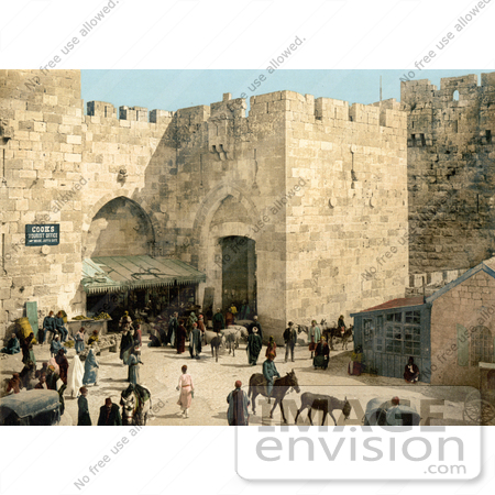 #14391 Picture of Hebron Gate, David's Gate, Jaffa Gate, Jerusalem by JVPD