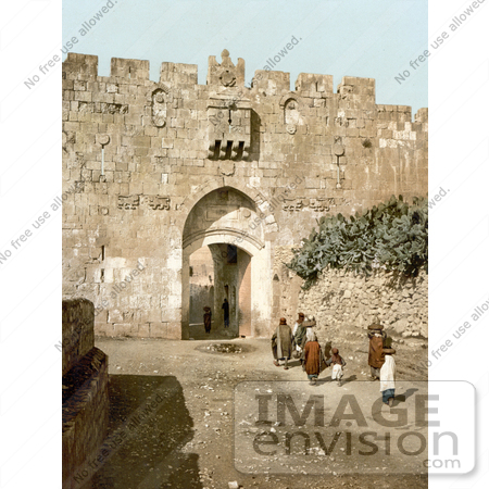 #14395 Picture of St. Stephen's Gate, Jerusalem by JVPD