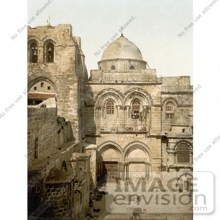#14407 Picture of The Holy Sepulchre, Jerusalem, Israel by JVPD