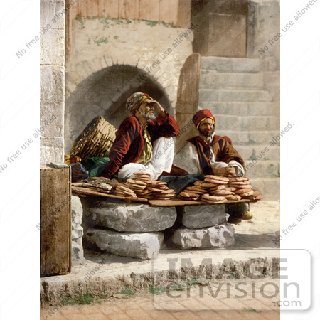 #14417 Picture of Bread Vendors in Jerusalem by JVPD