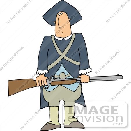 Clip Art Revolutionary War Clipart revolutionary war soldier holding a rifle clipart 14449 by djart