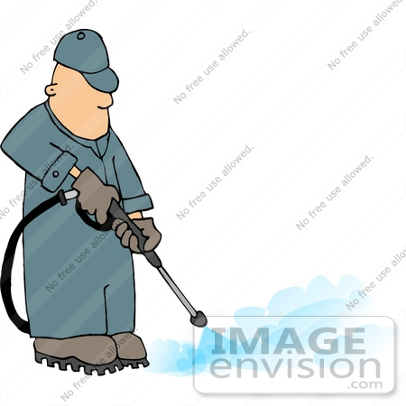 Middle Aged Caucasian Pressure Washer Man Clipart   #14457 ...