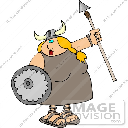 Purple Viking Helmet Clip Art #14472 blond viking woman with