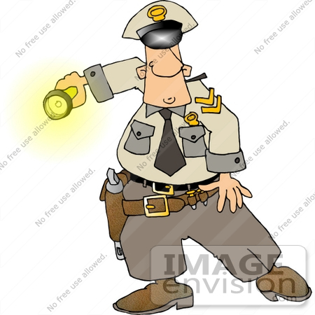 Police Officer Holding a Flashlight Clipart | #14474 by DJArt ...