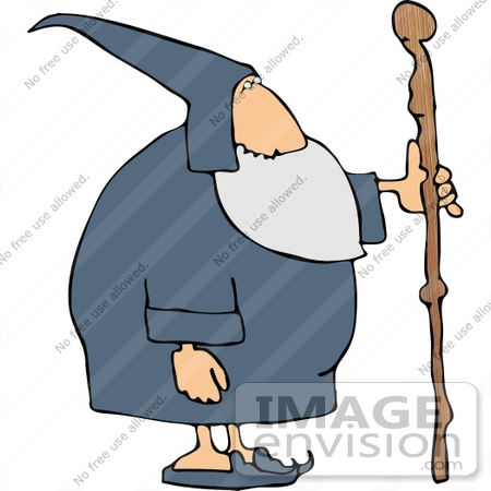 #14527 Wizard With a Cane Clipart by DJArt