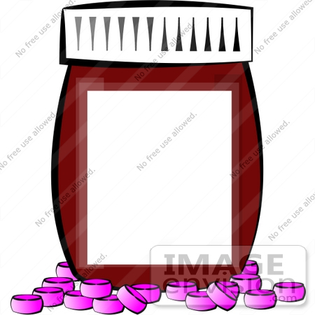 pills in front of a pill bottle with a blank label clipart 14530 rh imageenvision com Medical Symbol Clip Art Medical Symbol Clip Art