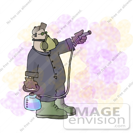 Mosquito Killer Man Spraying Pesticide Insecticides Clipart ...